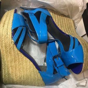 Guess Blue Color Block Espadrille Sandal